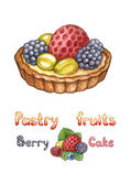 Illustration of a pastry fruits — Stock Photo