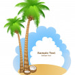 Stock Vector: Vacation background