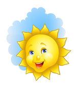 Happy sun — Stock Vector