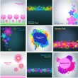 Set of abstract colorful backgrounds — Imagens vectoriais em stock