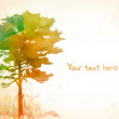 Background with watercolor tree — Stock Photo #11457985