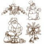 Christmas illustrations — Stock Photo