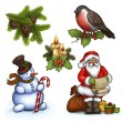 Christmas illustrations — Stock Photo