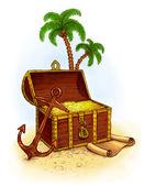 Pirate's treasure — Stockfoto