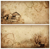 Backgrounds with pencil drawing — Stock Photo