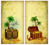 Backgrounds with travel illustration — Stock Photo