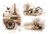 Pencil drawings — Stock Photo