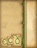 Papel viejo con ilustración de eco — Foto de Stock