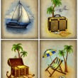 Set of vacation illustrations — Stock Photo
