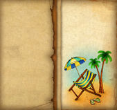 Vacation background with chaise lounge — Stock Photo