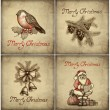 Set of christmas greeting card — Stock Photo #11540974