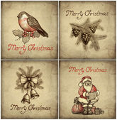 Set of christmas greeting card — Stock Photo