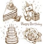 Set of birthday illustration — Stock Photo #11554206