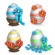 Royalty-Free Stock Photo: Set of easter eggs