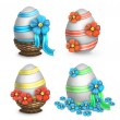 Stock Photo: Set of easter eggs