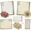Stock Photo: Set of vintage notepaper