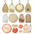 Set of vintage tags — Stock Photo