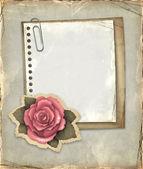 Vintage notitieblok op het oud papier — Stockfoto
