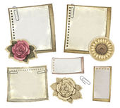 Set of vintage notepaper — Stockfoto