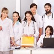 Team of doctor in hospital. — Foto Stock