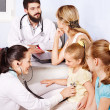 Stock Photo: Doctor exam child.