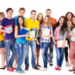 Group student with notebook . — Stockfoto #11295464