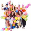 Group with balloon on party. — Stock Photo #11295483