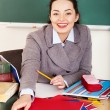 Stock Photo: Woman in classroom.