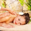 Woman getting massage in spa. — Stock Photo #11295920