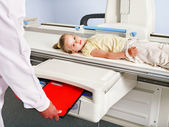 Child patient in x-ray room. — Stock Photo