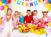 Children happy birthday party . — Zdjęcie stockowe