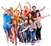 Grupo ventilador deporte animadoras para. — Foto de Stock