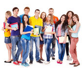 Group student with notebook . — Stockfoto