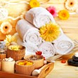 Spa still life  with towel. - Stock Photo