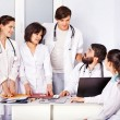 Stock Photo: Team of doctor in hospital.