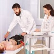 Ecg test of man. — Stock Photo