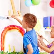 Foto de Stock  : Child painting in preschool