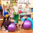 Group in aerobics class. — Stock Photo #11831891