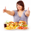 Woman eating fast food. — Stock Photo #11832194