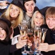 Group young drinking champagne. — Stock Photo #11832541