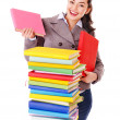Woman holding book. — Stock Photo