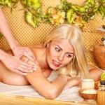 Woman getting massage . — Stock Photo #11834674