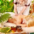 Woman getting  massage . - Stock Photo