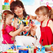 Child painting in preschool — Stock Photo #11834828