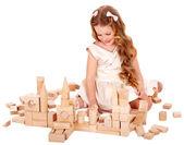 Child play building blocks. — Stock Photo