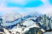 Top van sneeuw berg. — Stockfoto