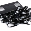 Stock Photo: Tangled video tape