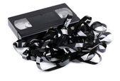 Tangled video tape — Stock Photo