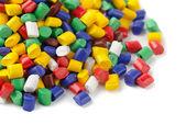 聚合物颗粒 — 图库照片