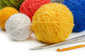 Knitting supplies — Stock Photo